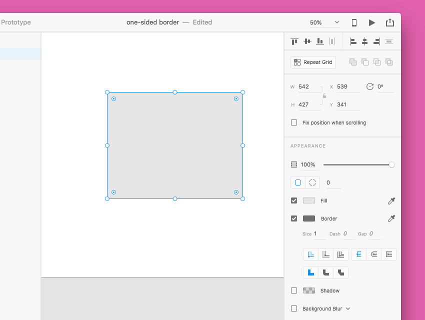 How to Create One-Sided Borders in Sketch and Adobe XD