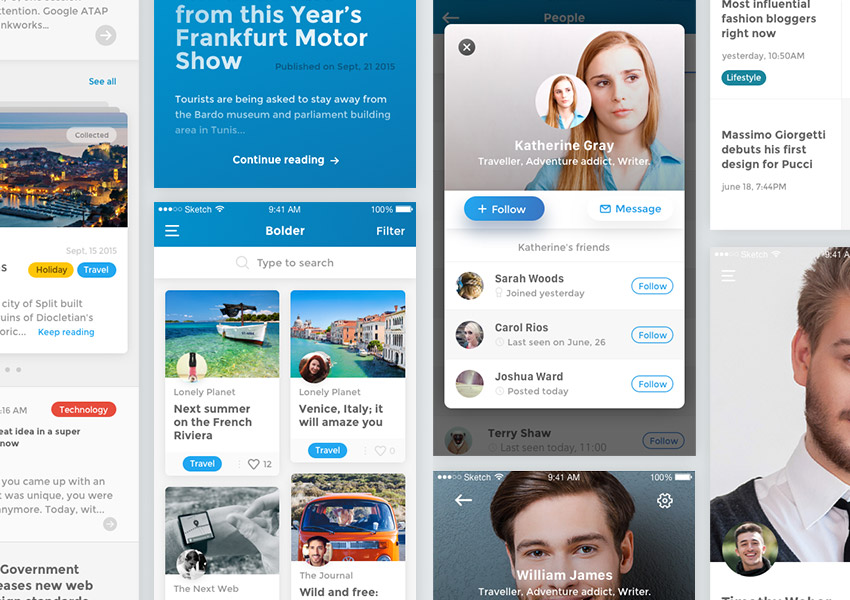 Best-Selling UX and UI Kits for Sketch, Photoshop
