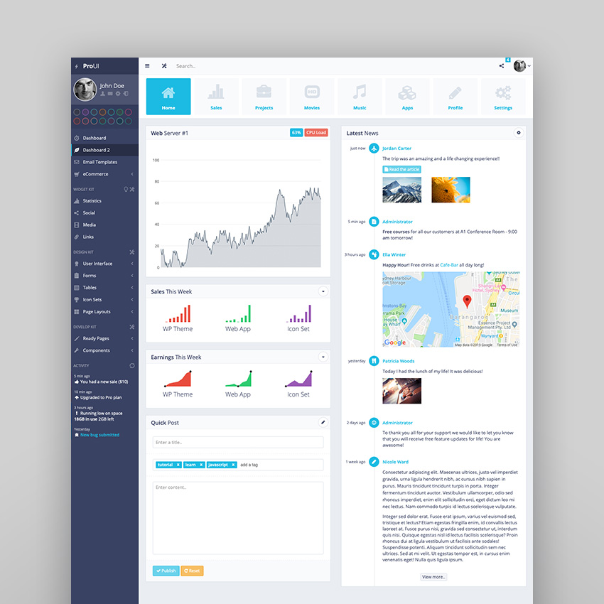 ProUI - Responsive Bootstrap Admin Template