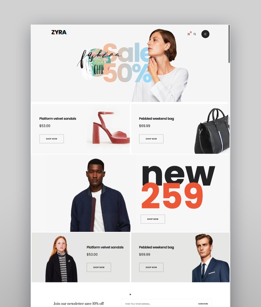 Zyra - The Clean Minimal Shopify Theme