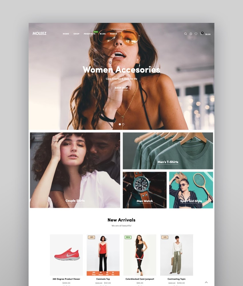 Moleez - Minimalist Shopify Section Theme
