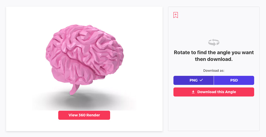 Low Poly Brain