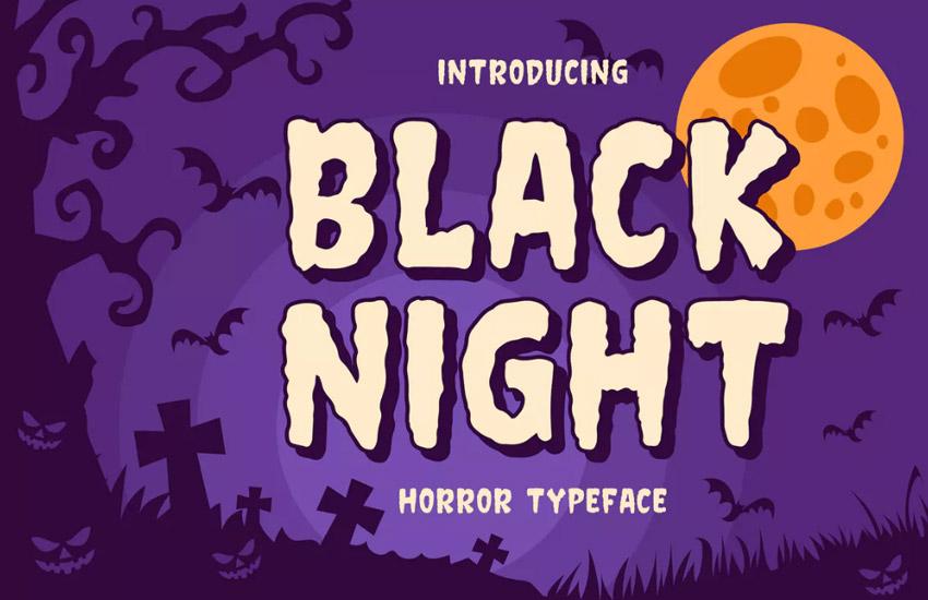 Black night - Horror Typeface