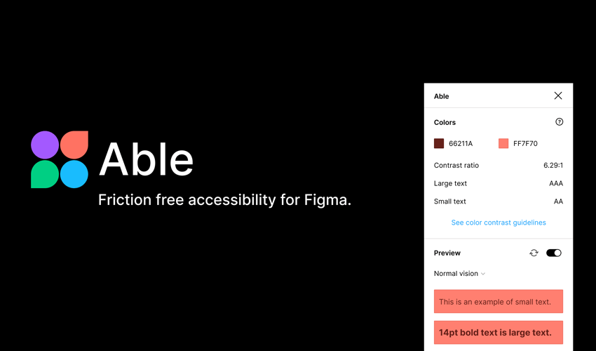 Able  Friction free accessibility for Figma