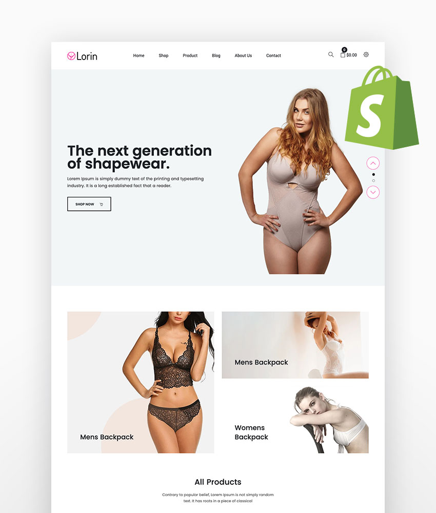Lorin Shapewear Shopify Theme