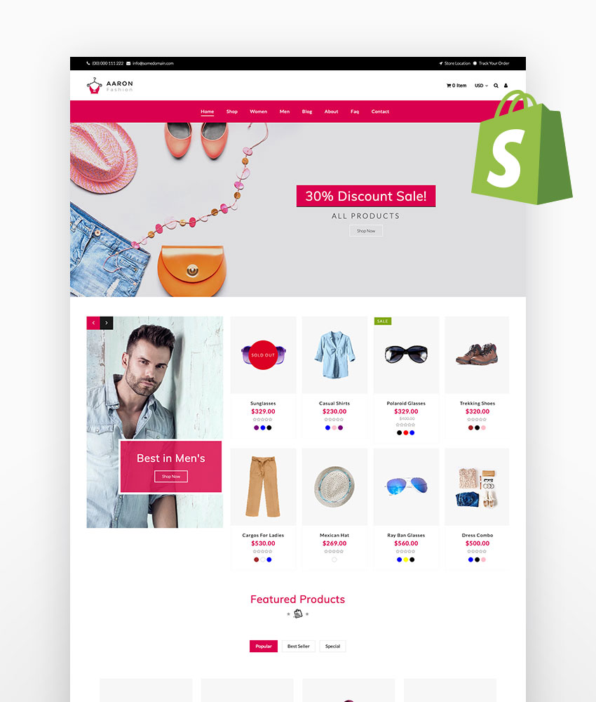 Aaron Fashion Shopify Theme