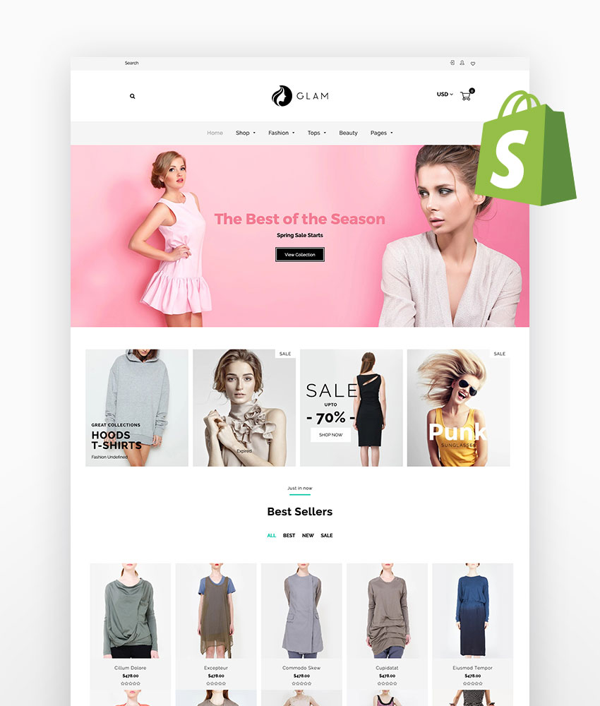 Glam - Fashion Shopify Theme