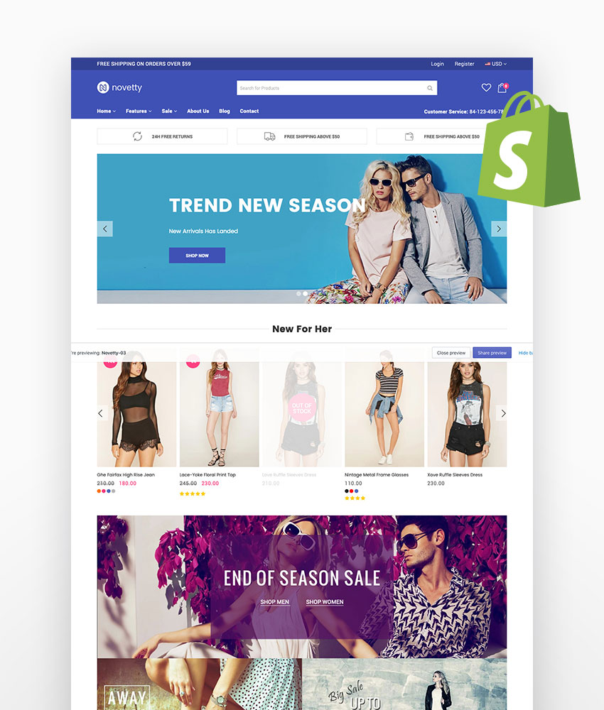 Novetty Responsive Shopify Theme