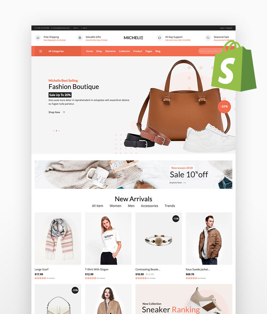 Michelie - Minimal Shopify Theme