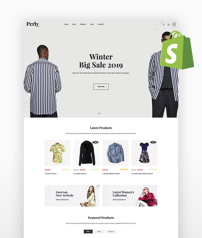 Perly Fashion Shopify Theme
