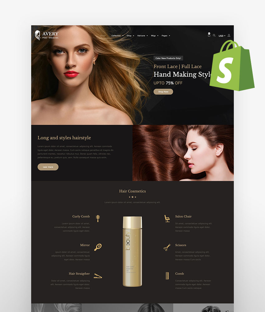Avery Hair Wig Shopify Theme