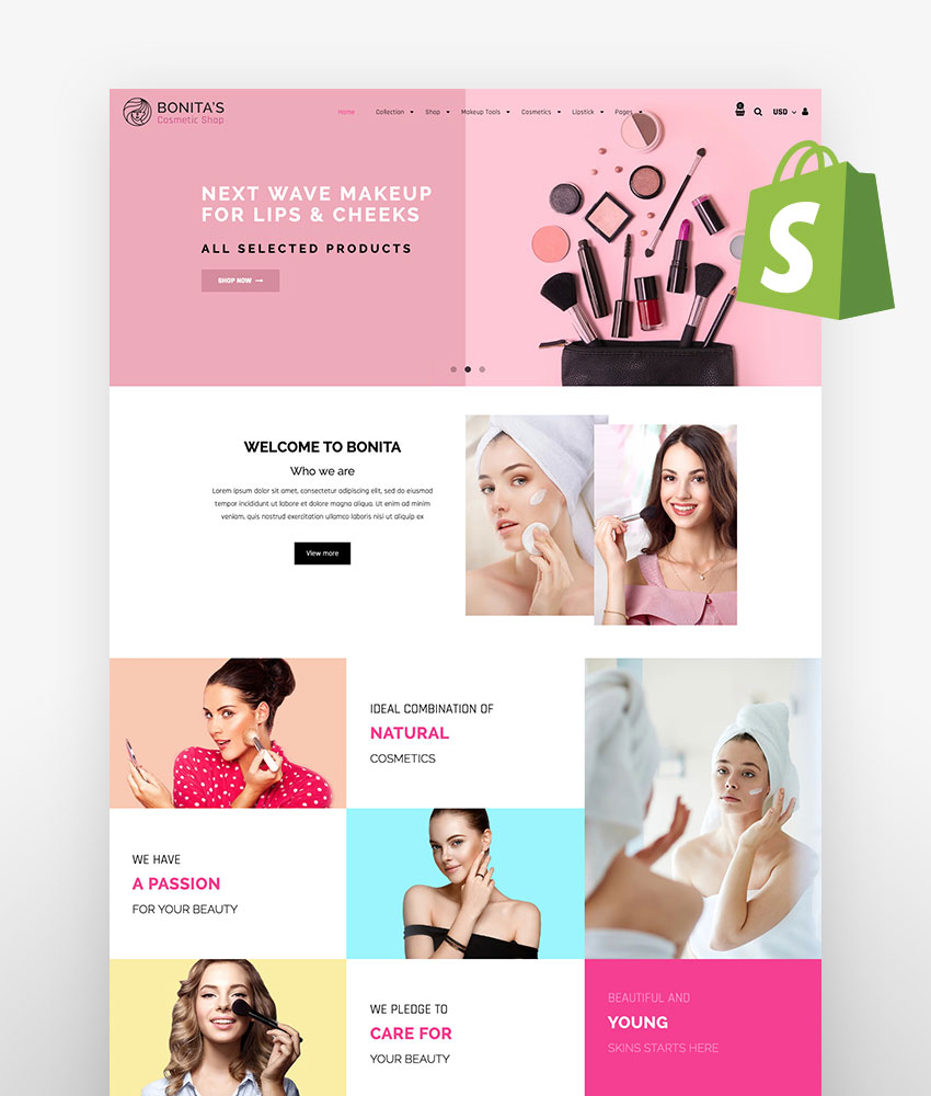 Bonita Cosmetic Salon Shopify Theme