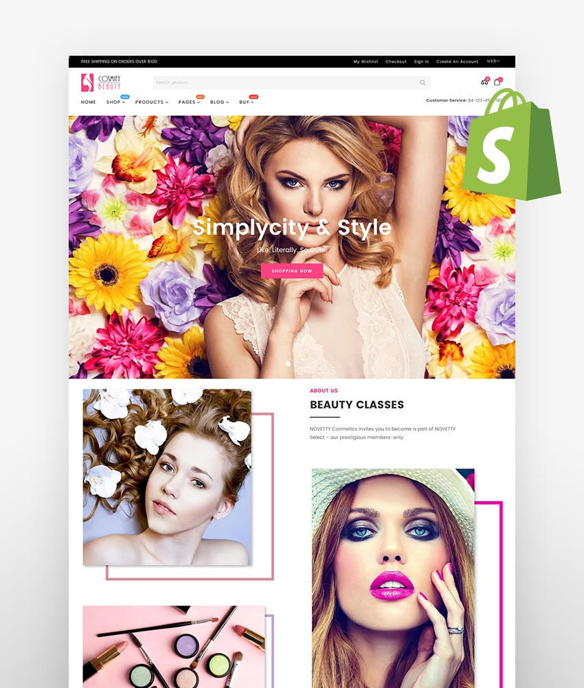 Cosmify Fashion Cosmetics Shopify Theme