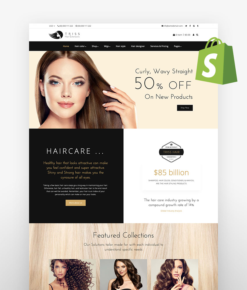 Triss Salon Barber Store Shopify Theme