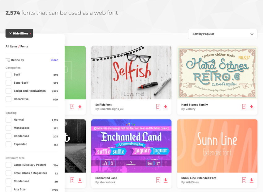 Envato Elements ever-growing library of 2500 web fonts and a whole lot more