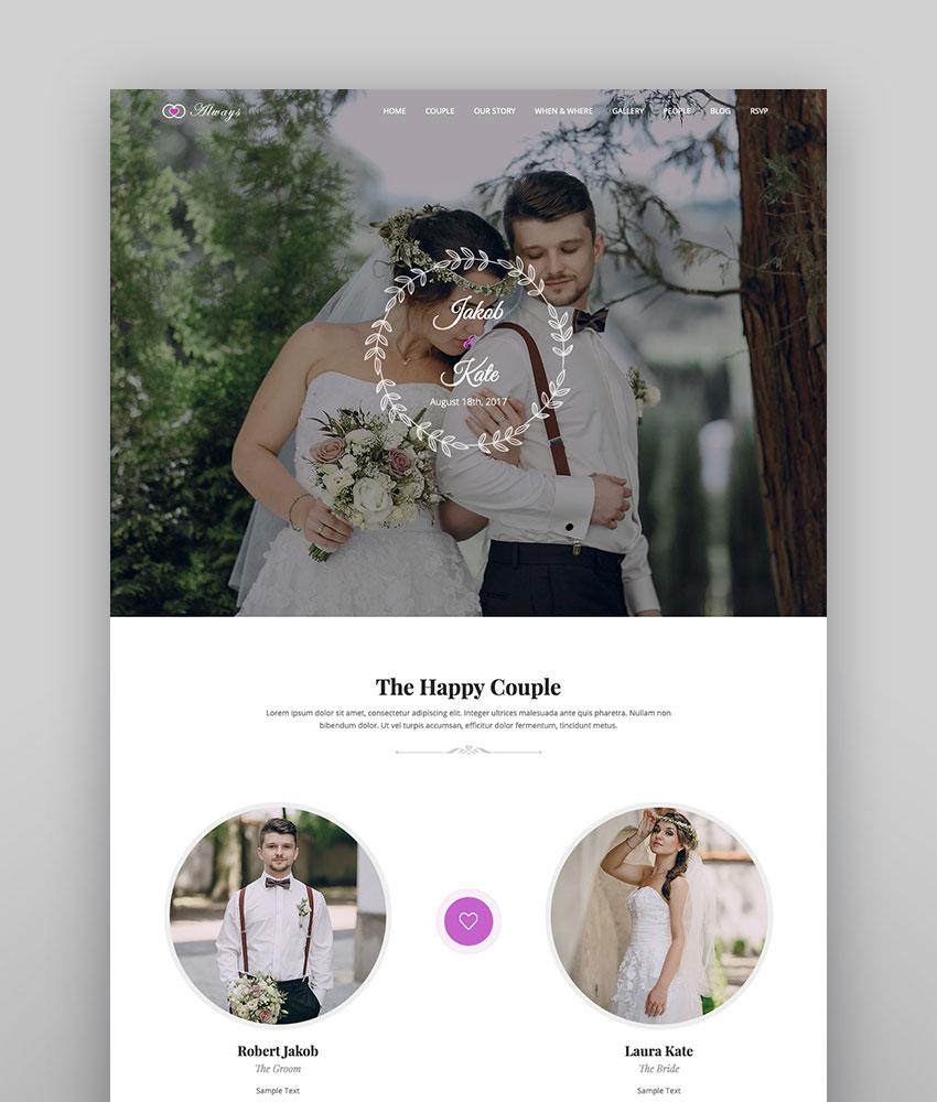 Always  Responsive WordPress Wedding Theme