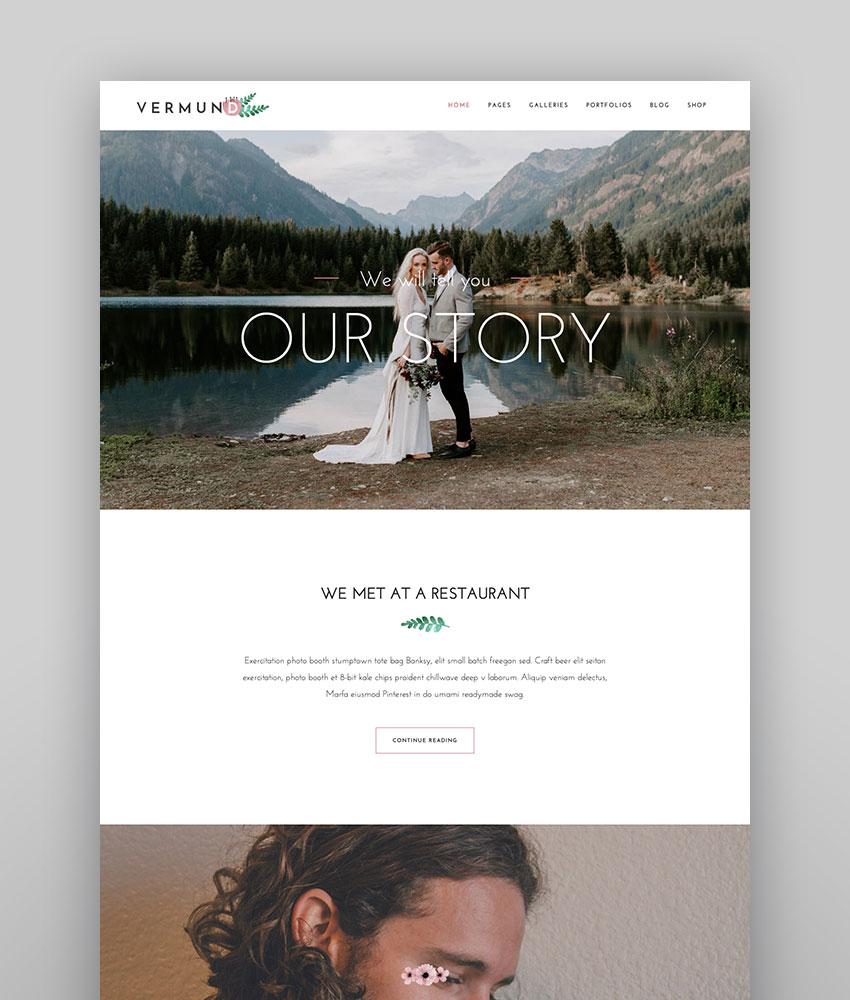 Vermund - Elegant Wedding WordPress Theme Best