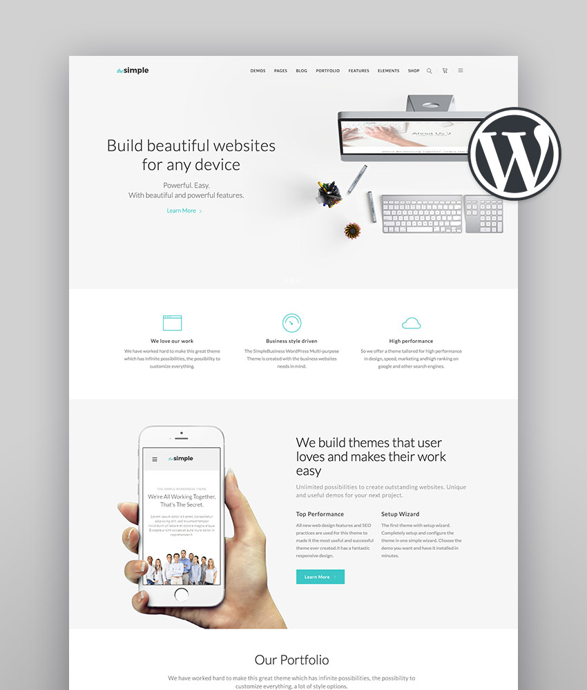 Simple WordPress Theme The Simple - A Simple Multi-Purpose Business Theme