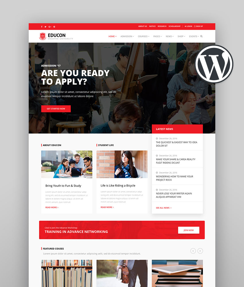 Educon - WordPress Education Theme with LMS compatibility