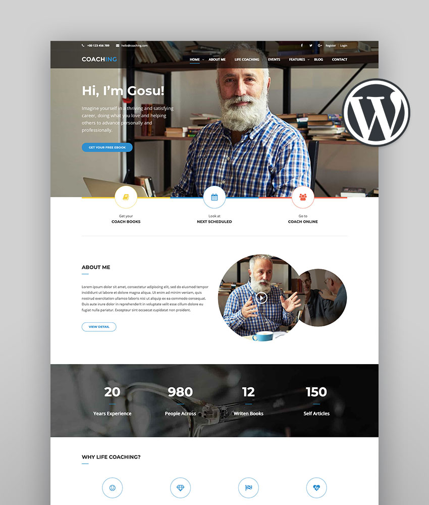 Colead  Coaching  Online Courses WordPress Theme