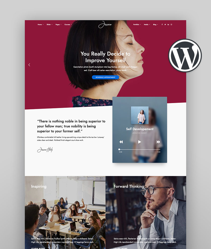 DotLife, tema WordPress para web de co