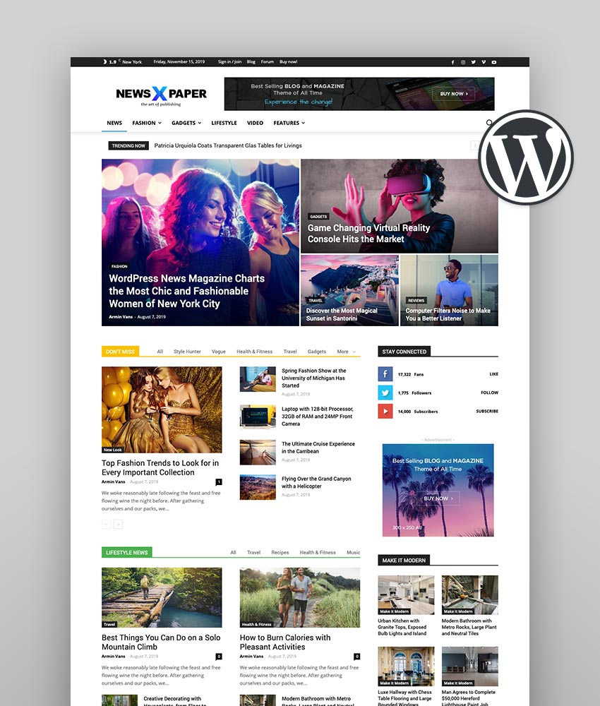 30 Newspaper Wordpress Themes To Make Awesome News Sites In 2020