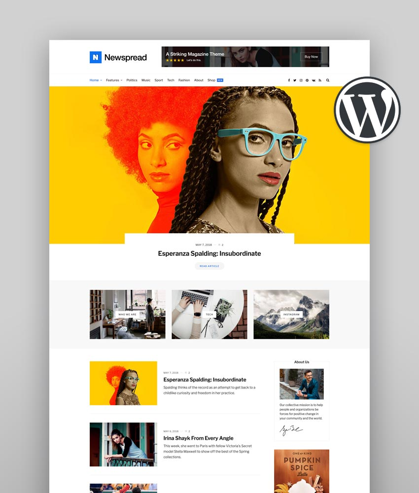 30 Awesome Wordpress Themes For Conference And Event 2019: 25 Newspaper WordPress Themes To Make Awesome News Sites