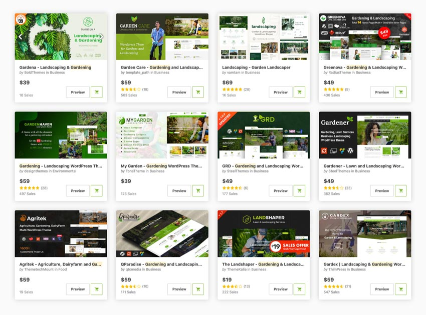 gardening wordpress themes on themeforest