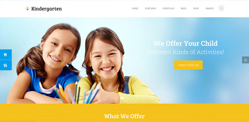 Kindergarten  Day Care  Children School Education WordPress Theme