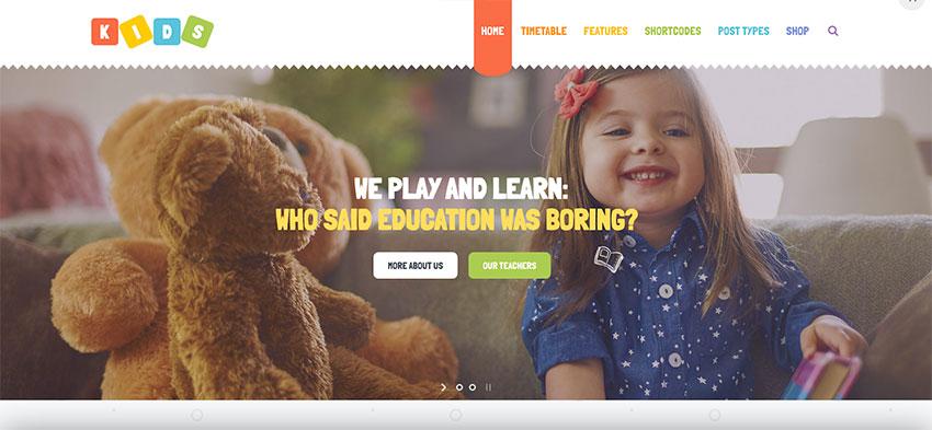 Kids - Day Care  Kindergarten WordPress Theme for Children