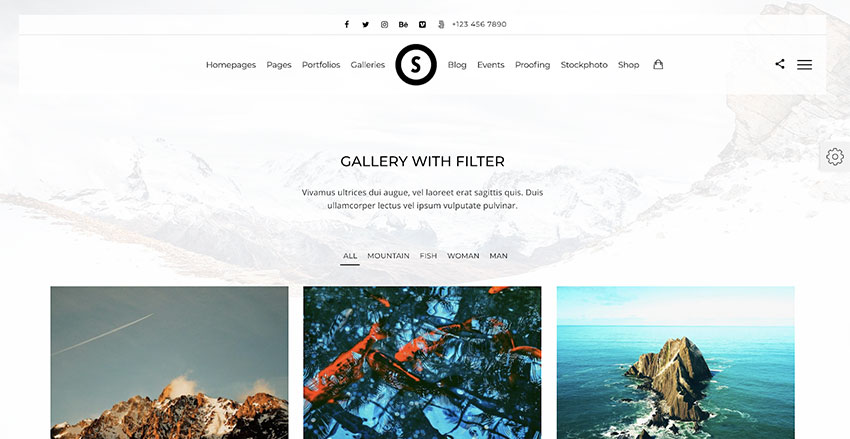 SceneOne  Photography Theme for WordPress