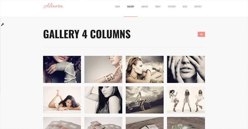 Almera  Model Agency  Photo Portfolio WordPress Theme