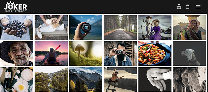 Joker - Photo  Video Portfolio WordPress Theme for Photographers