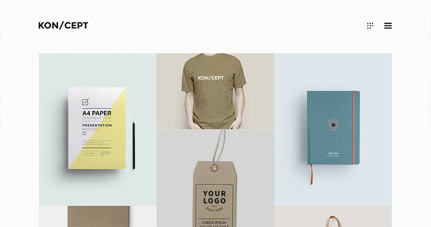 KONCEPT - A Portfolio Theme for Creative People