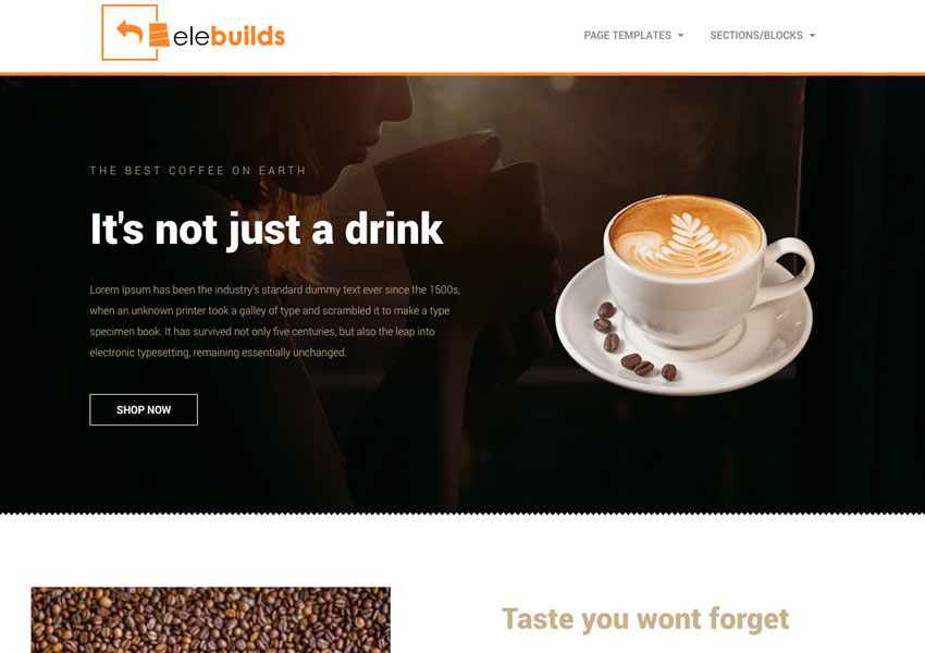 Free Coffee Shop Homepage Template