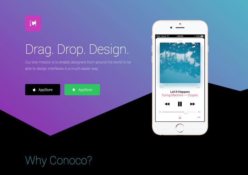 Landing Page  Mobile App 1