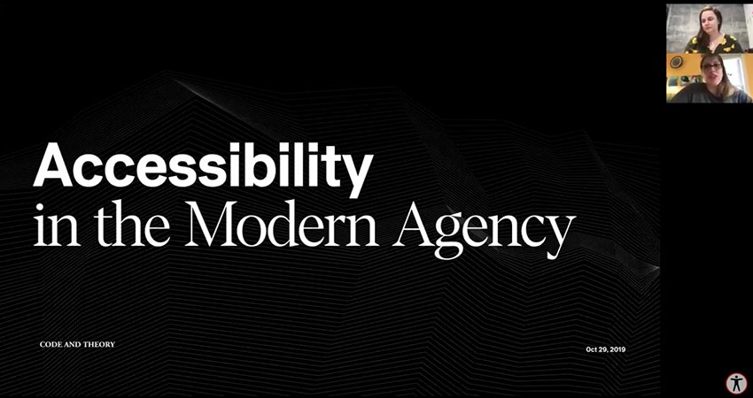 Accessibility in the Modern Digital Agency - Sara Tabor