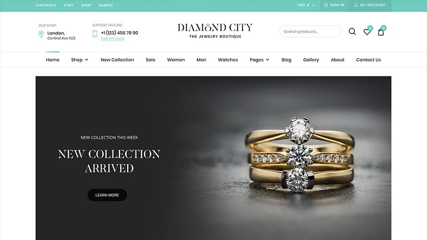 DiCi - Jewelry Shop WordPress Theme