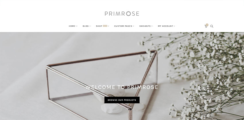 Primrose - A Minimal and Creative WooCommerce Theme