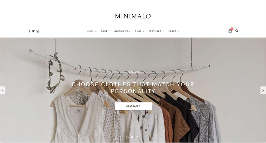 Minimalo - A Minimal Blog WordPress Theme for Creative Websites