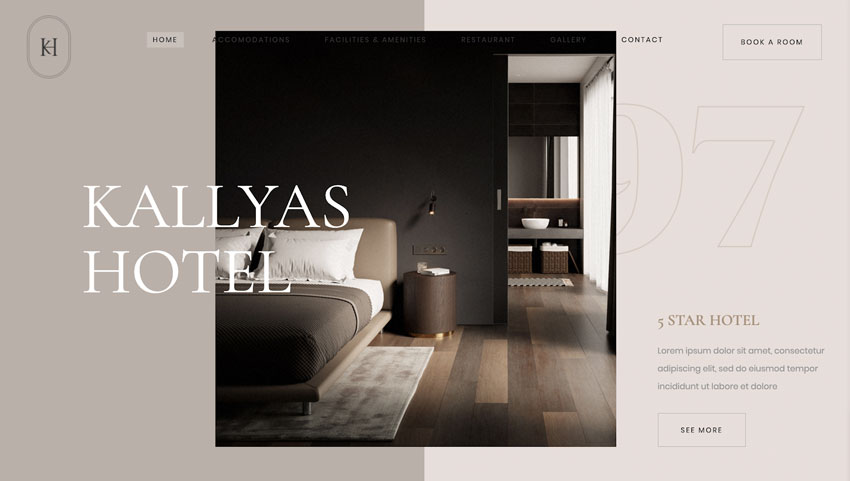 KALLYAS - Creativo tema WordPress multipropósito para hotel y eCommerce