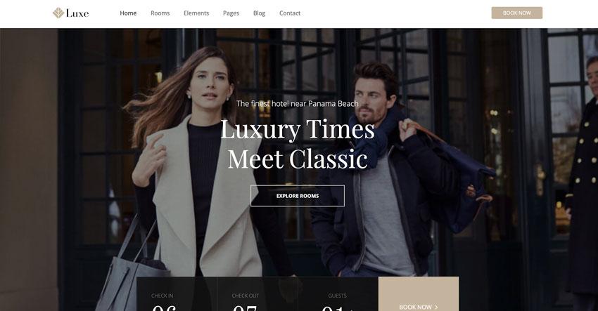 Luxe - Tema WordPress para hotel de lujo