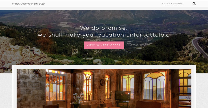 Keter-WP Theme for Small Hotels Guesthouses Rooms for Rent and BB