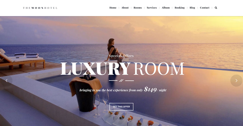 Moon - Responsive Hotel Booking WordPress Theme