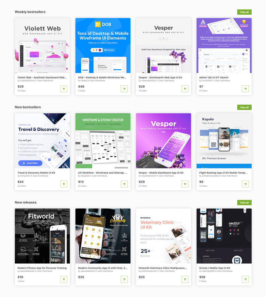 Sketch UI Templates on GraphicRiver