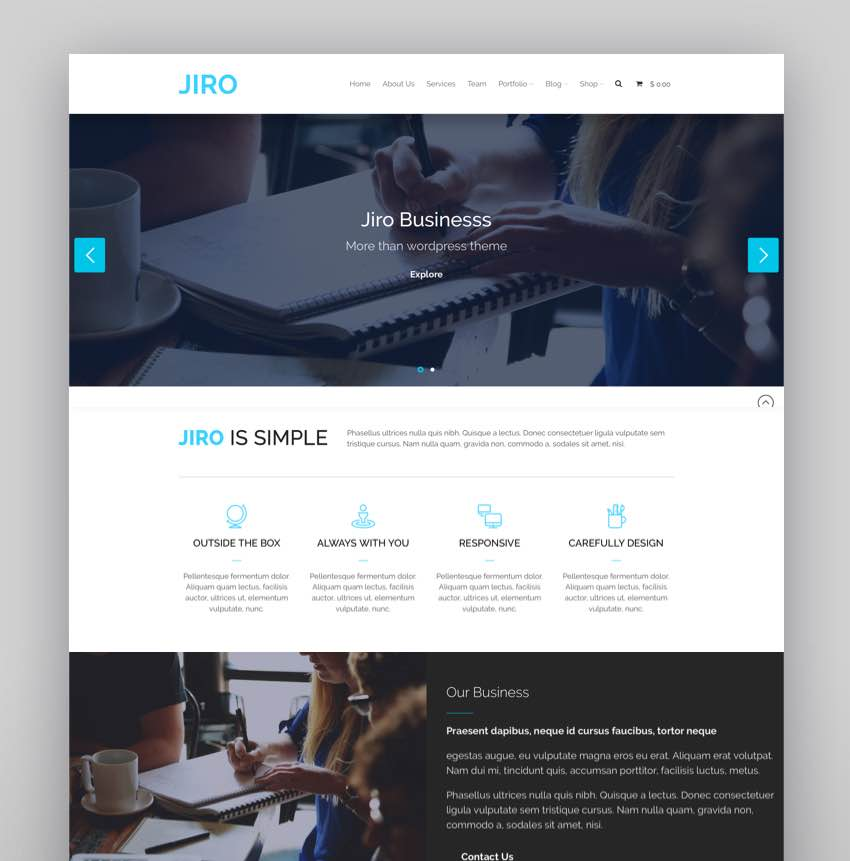 JIRO MultiPurpose Business WordPress Theme