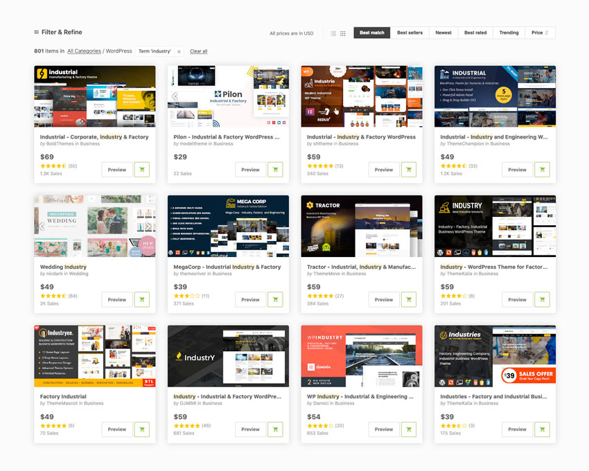 Best Industrial Manufacturing WordPress Themes Available on Themeforest