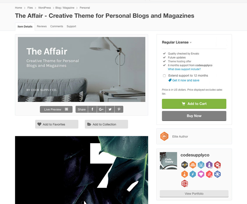 the affair on themeforest