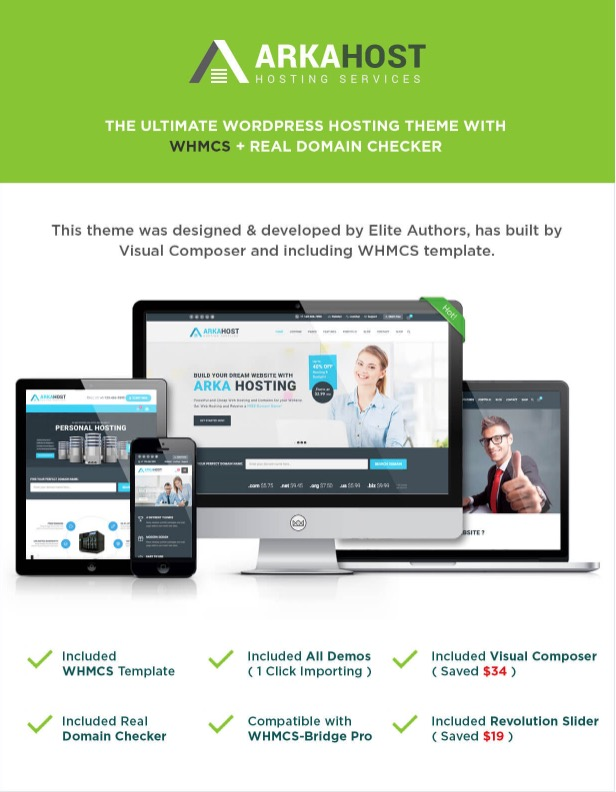 ArkaHost - WHMCS WordPress Theme