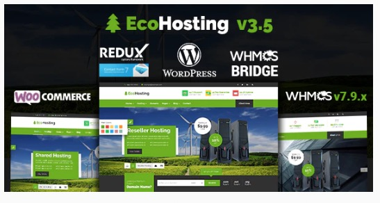 EcoHosting  Responsive Hosting and WHMCS WordPress Theme